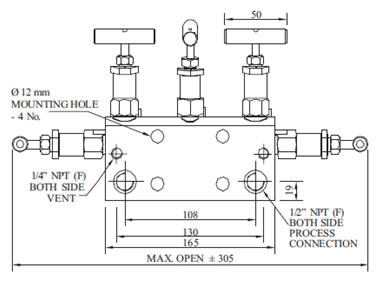 Manifold - R - 5 Way-02 (Direct Mounting) Diagram3