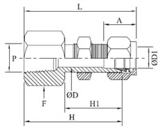 Bulkhead Female Connector Diagram