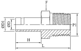 Male Adapter Diagram
