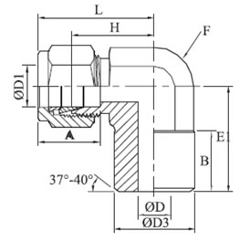 Male Pipe Weld Elbow Diagram